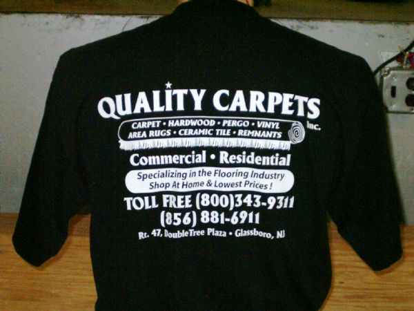 Quality carpet t shirt screen printing screentech for Quality shirts for printing