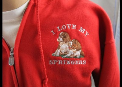 Embroidery on Fleece Jacket