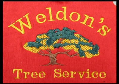 Weldon's Tree Service Patch Embroidery