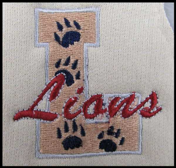 Lions Logo Embroidery Patch
