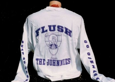 Flush The Johnnies Sweat Shirt Screen Printing