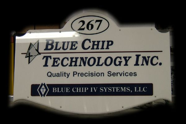 Blue Chip Technology Sign