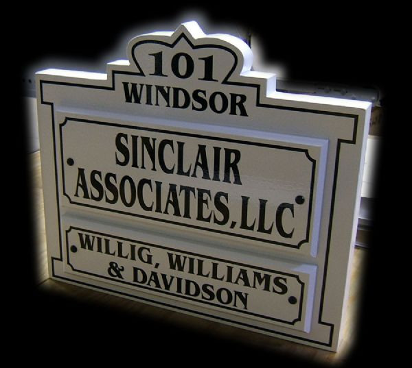 Sinclair and Associates Signage