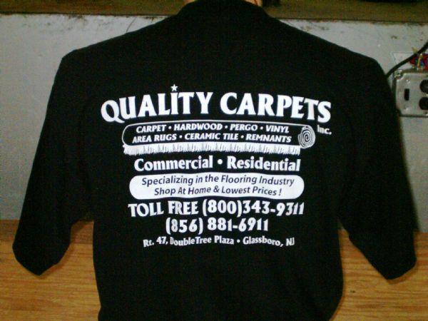 Quality Carpet T-Shirt Screen Printing
