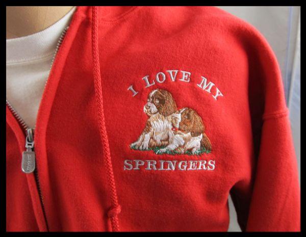Embroidery on Fleece Jacket