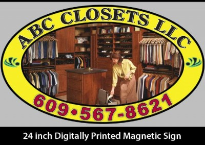 ABC Closets Magnetic Signage