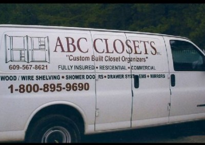 ABC Closets Van Graphics
