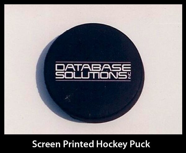 Database Solutions Screened Printed Hockey Puck