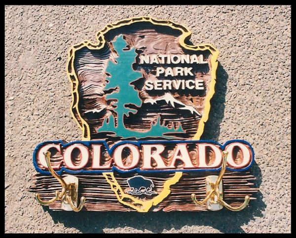 Colorado National Park Service Sign