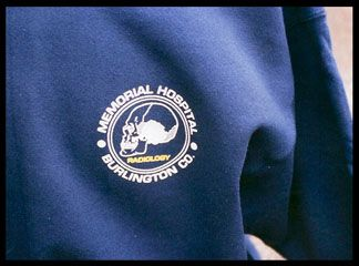 Memorial Hospital Sweatshirt Screen Printing
